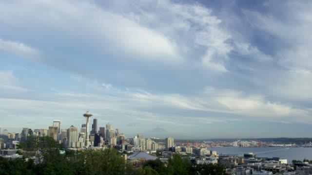 City of Seattle with Mount Rainier