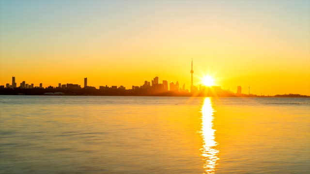 City of Toronto Sunrise Clear day video