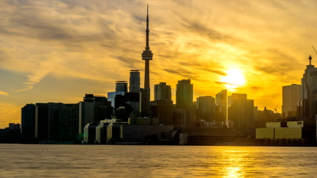 City of Toronto Sunset Time Lapse Day To Night video