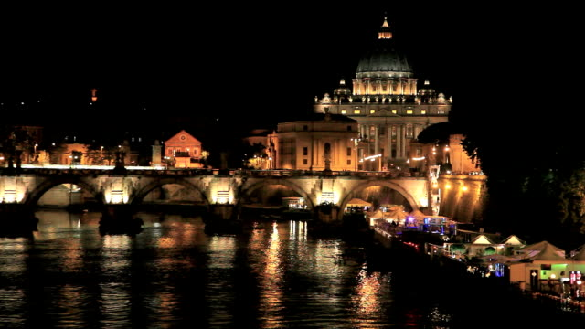 City of Vatican and Rome at Night, Italy video