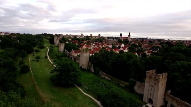 AERIAL: City of Visby, Gotland video