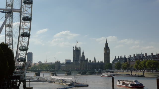 City Of Westminster Viewed From London Eye Pier (UHD) video