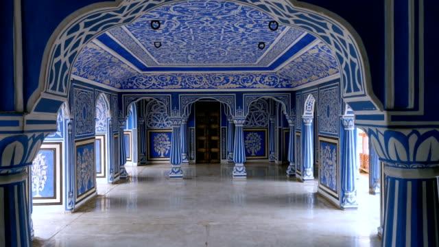 city palace i jaipur, indien - blommönster bildbanksvideor och videomaterial från bakom kulisserna