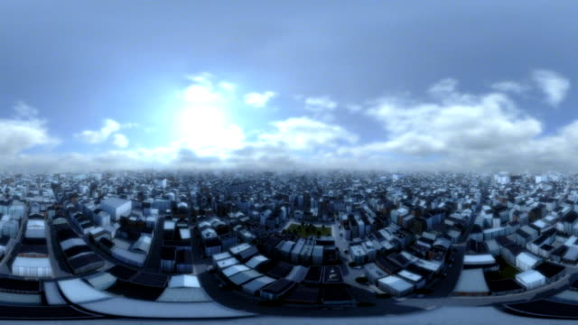 City Panorama 360 Degree Flight video