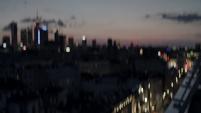 City panorama. Rooftop sunset
