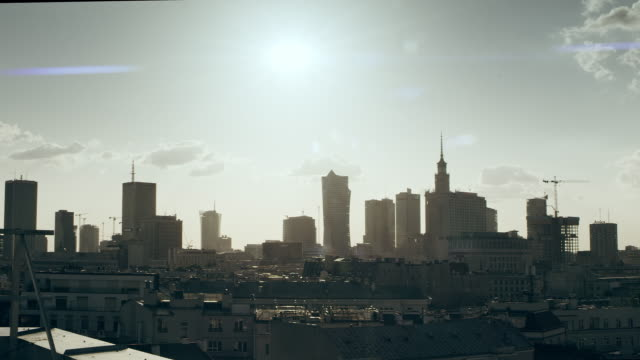 City panorama. Rooftop view