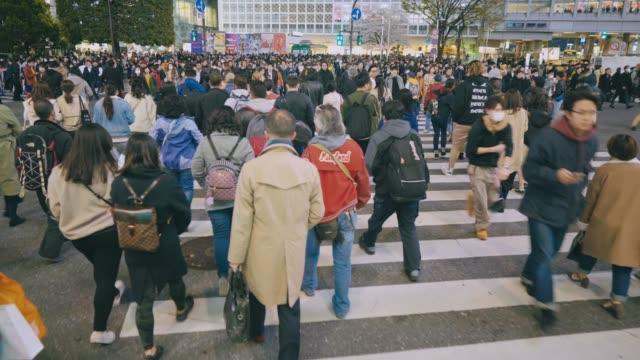 都市歩行者交通渋谷東京 - 交差点点の映像素材/bロール