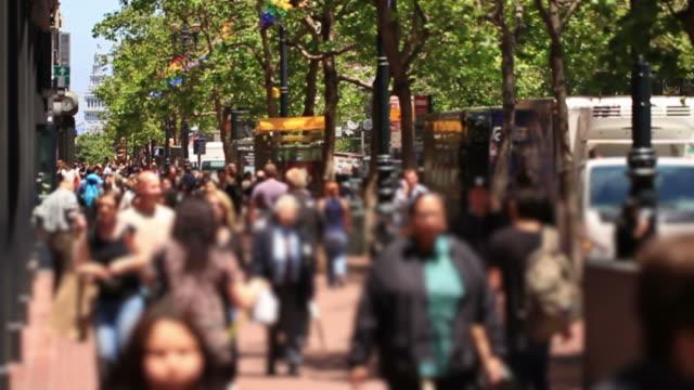 City Pedestrian Traffic Slow Motion