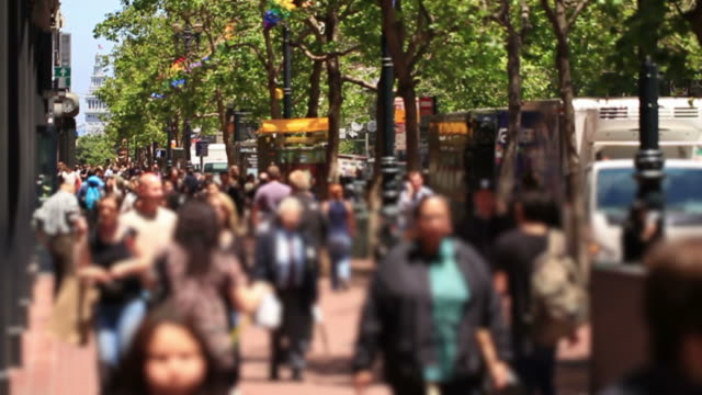 City Pedestrian Traffic Slow Motion video