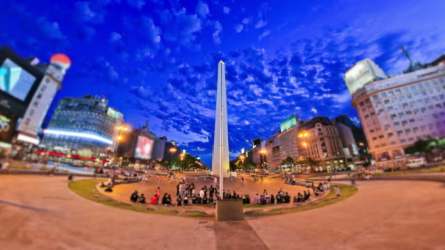 City Pedestrian Traffic Time Lapse Buenos Aires video