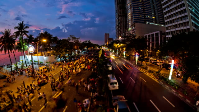 City Pedestrian Traffic Time Lapse Manila video