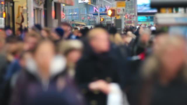 City Pedestrian Traffic Time Lapse video