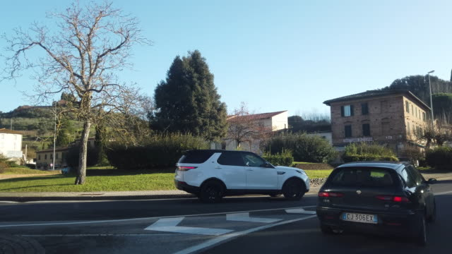 POV Stadtbild von Siena – Video