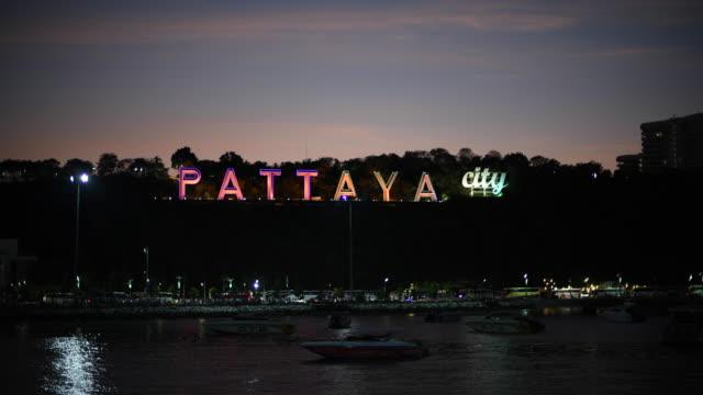 pattaya city sign - pattaya bildbanksvideor och videomaterial från bakom kulisserna