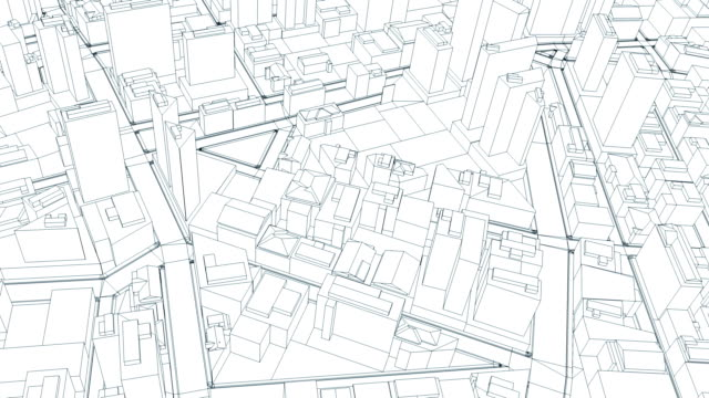 City sketch flight video