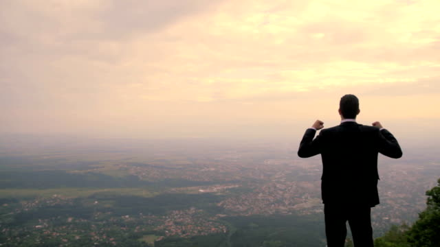 City Skyline Business Man Success Concept Background Hd Stock Video Download Video Clip Now Istock