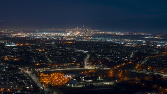 Video City Skyline Night Timelapse