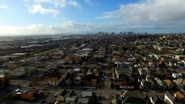 City Skyline A daytime shot of Oakland, California and the city skyline in the distance. oakland stock videos & royalty-free footage