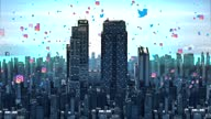 istock 4K City, social media and network connection. networking and communication Concept. Wireless technology and the Internet. 1315513228