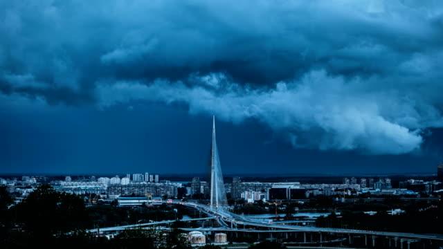 city storm - serbia video stock e b–roll