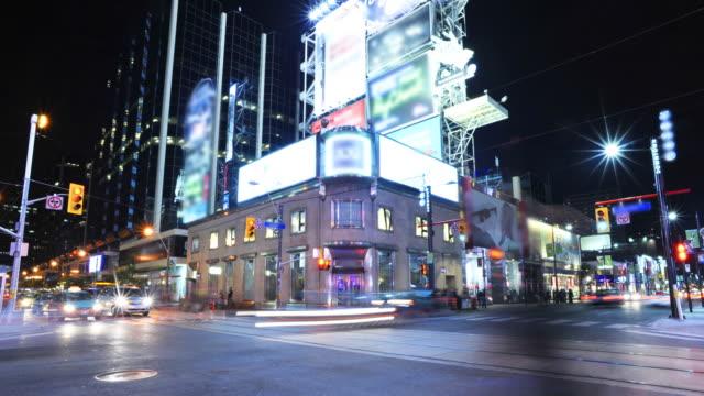 city street corner—hd timelapse - toronto architecture stock videos & royalty-free footage