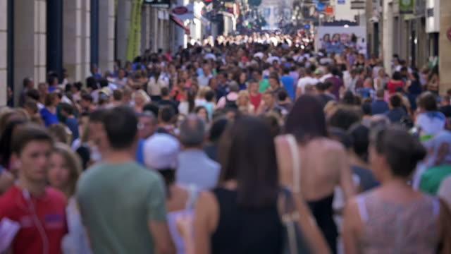 City Street Crowd