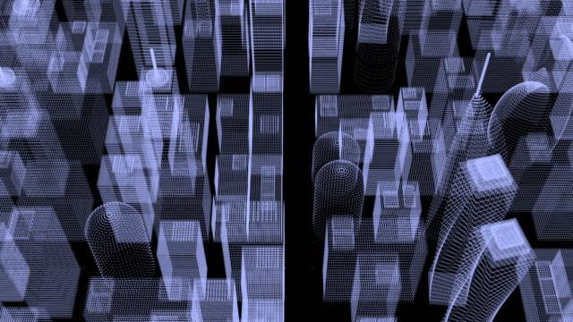 都市構造。 - ローポリモデリング点の映像素材/bロール