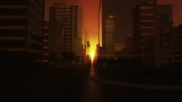 city sunrise video
