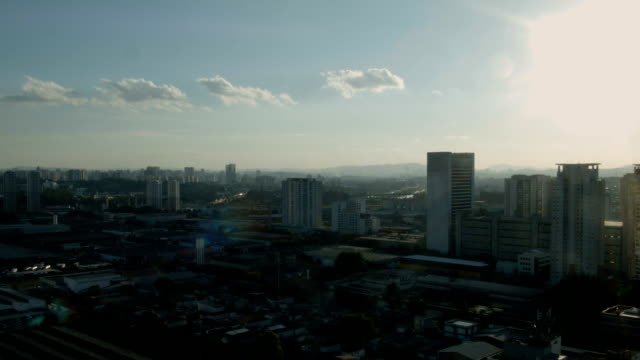 Cidade Sunset - Timelapse - vídeo