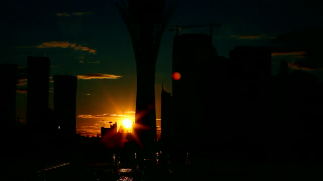 city sunset. - 亞洲中部 個影片檔及 b 捲影像