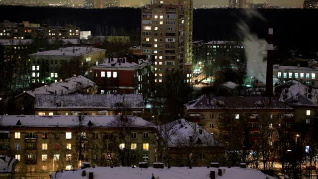 stadt-zeitraffer in der nacht. - moskau stock-videos und b-roll-filmmaterial