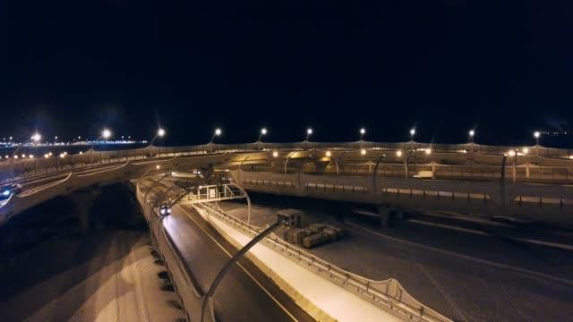 city traffic at night - treedeo saint petersburg stock videos & royalty-free footage