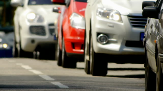 HD - City Traffic. Close-up