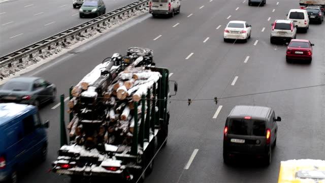City traffic in Kiev. Ukraine.