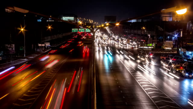City Traffic Night Timelapse video