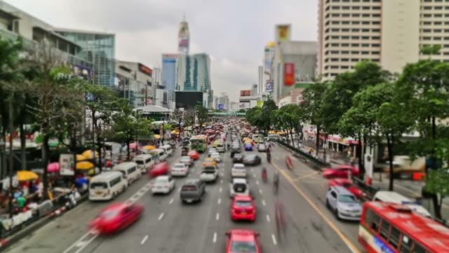 City Traffic Time Lapse Bangkok video