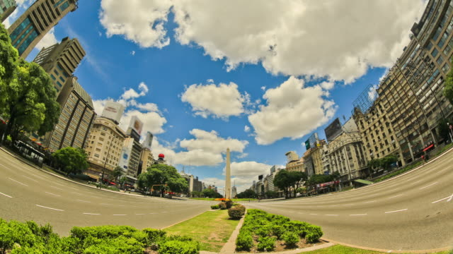 City Traffic Time Lapse Buenos Aires video