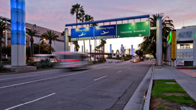 City Traffic Time Lapse LAX video