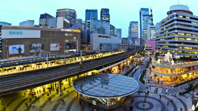 City Traffic Time Lapse Tokyo Ginza Station video