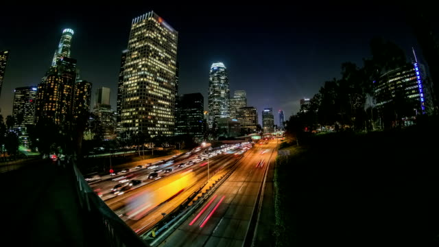 City Traffic Time Lapse LA video