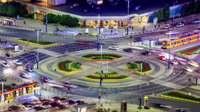 City Traffic Time Lapse Warsaw video