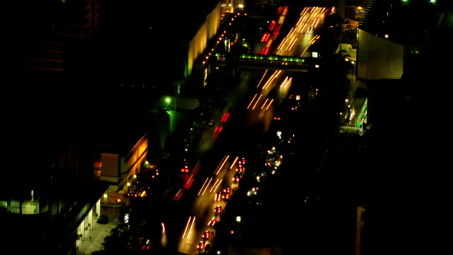 City traffic time lapse zoom video