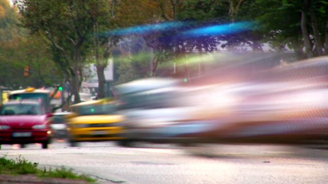 vidéos et rushes de ville trafic timelapse-hd720p - vue en contre plongée