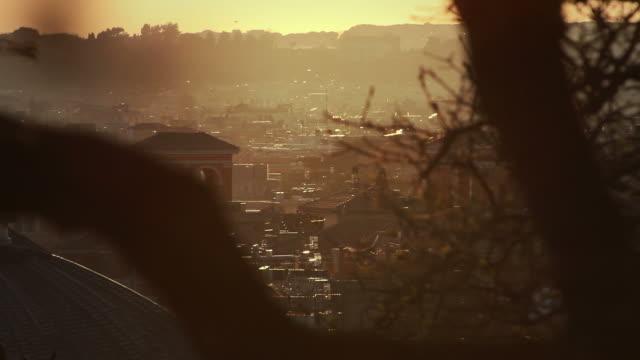 City under hot summer sun video
