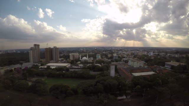 вид на город и таймлапс - парагвай стоковые видео и кадры b-roll