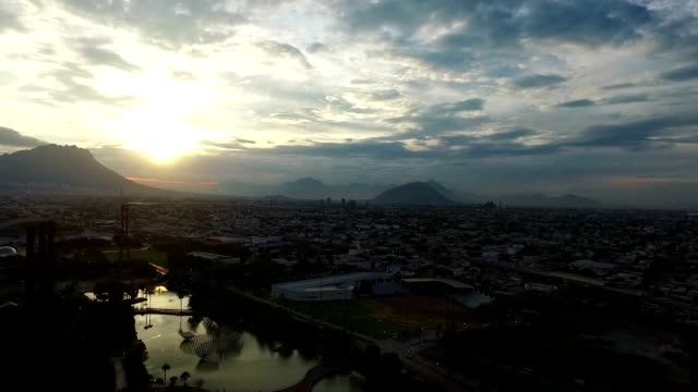 City view from a drone video