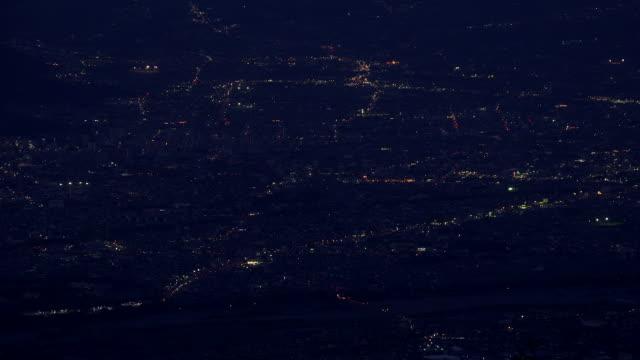 vídeos de stock e filmes b-roll de city view from mt.amari,yamanashi - passagem de ano