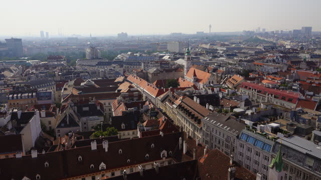 City view from Stephansdom- St. Stephen Cathedral in Vienna, Austria
