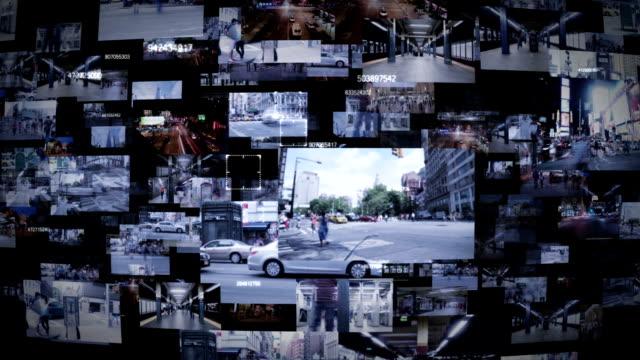 citycam - überwachungskamera stock-videos und b-roll-filmmaterial