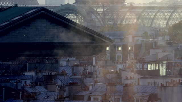cityscape and air pollution - anidride carbonica video stock e b–roll